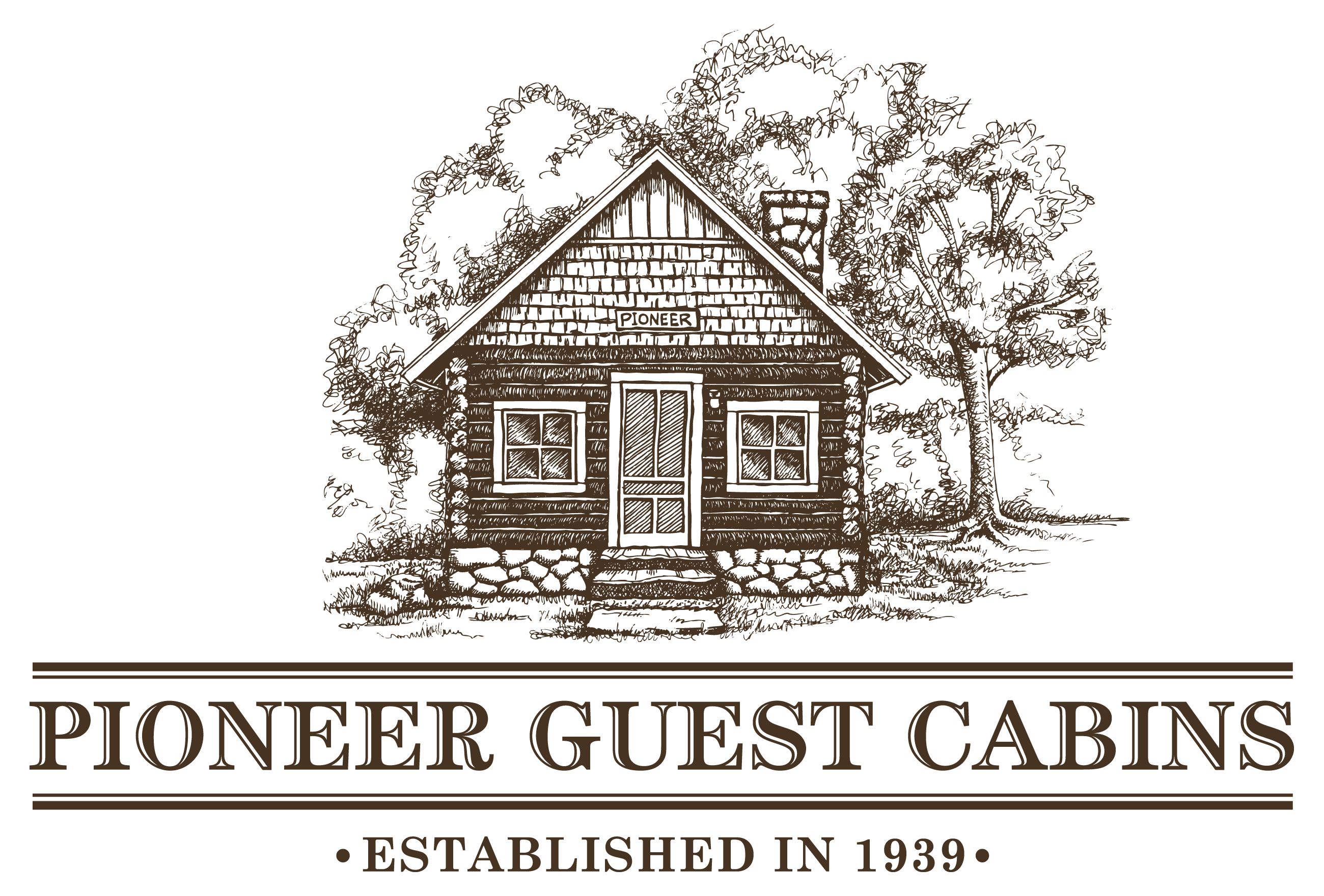 Pioneer guest cabin brown logo crested butte mountain for Cabine vicino a crested butte co