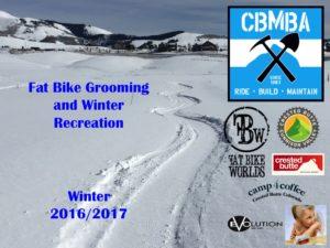 Fat Bike/Winter Grooming Proposal