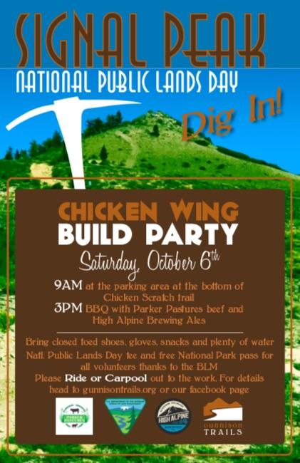 Gunnison Trails' Chicken Wing Build PartyCrested Butte